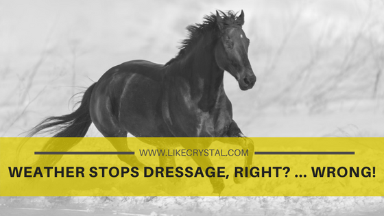 Weather Stops Dressage, Right? … Wrong!